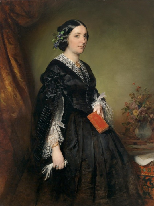 Friedrich von Amerling (1803-1887) Portrait of Karoline Stiffel-Ecaland