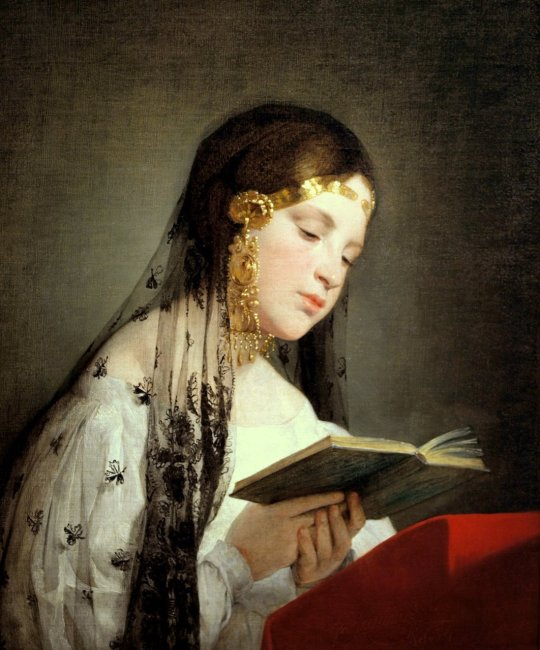 Friedrich von Amerling (1803-1887) - Reading girl