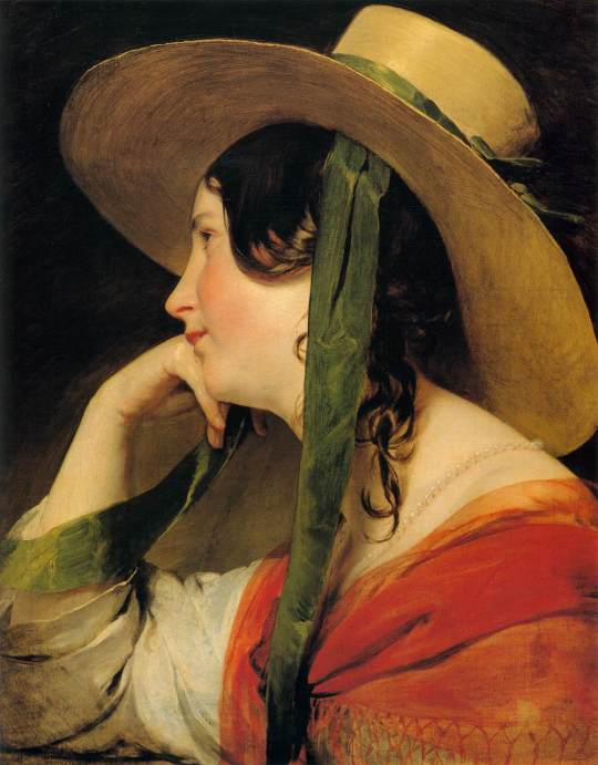 Friedrich von Amerling - Girl in Yellow Hat