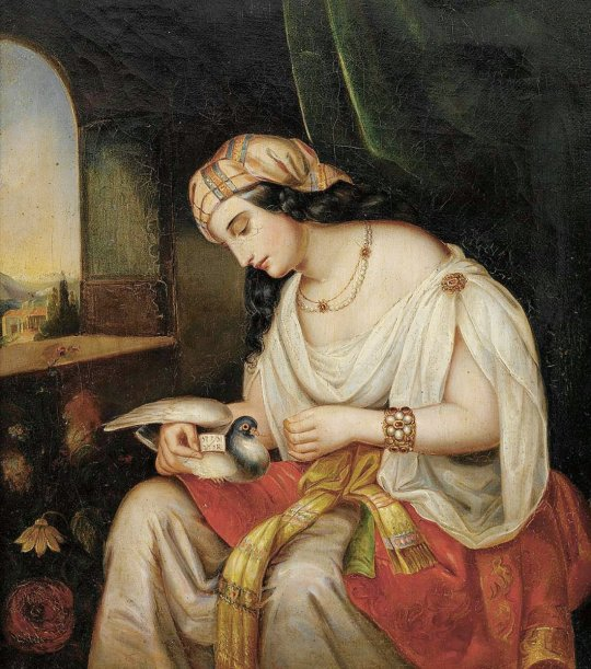 Young Woman with Pigeon