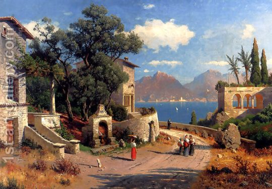 An-Italian-Village-By-A-Lake