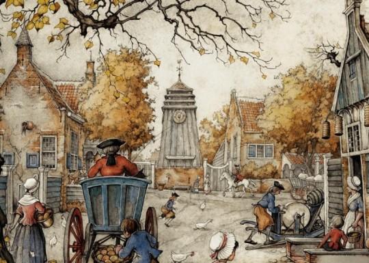 anton-pieck-puzzel-het-dorpsplein-1000