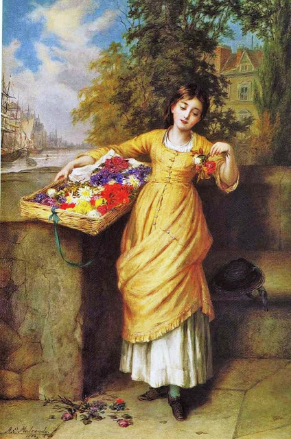 Augustus Edwin Mulready (English genre artist, 1844–1904)  Fading Flowers 1882