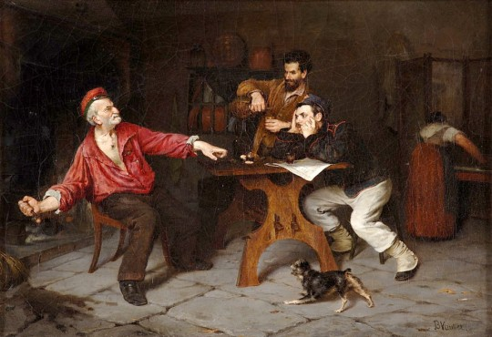 Benjamin Vautier(1829 - 1898) - The Big Speaker