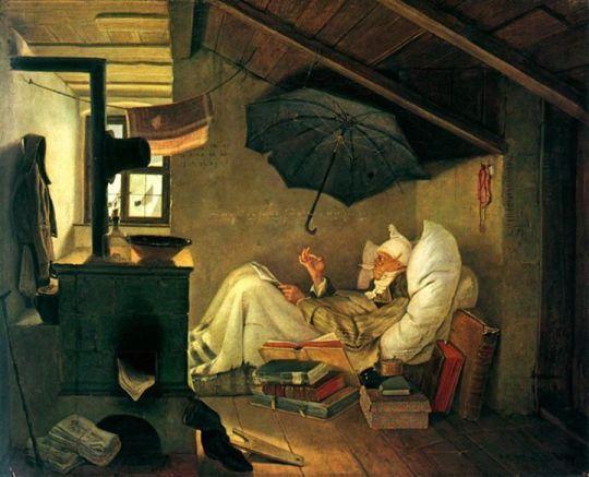 Carl Spitzweg - Der Arme Poet, 1839