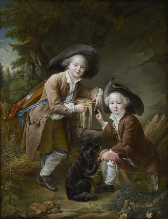 Francois Hubert Drouais - The Comte and Chevalier de Choiseul as Savoyards