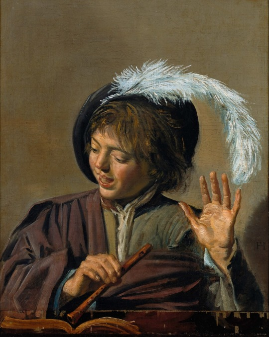 Frans Hals (Dutch painter, 1582 - 1666) - Singing Boy with Flute