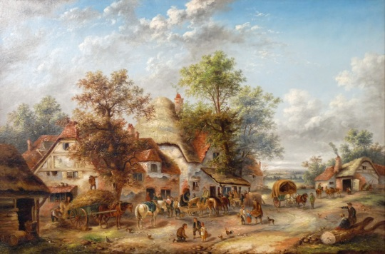 Georgina Lara - Figures in a Village