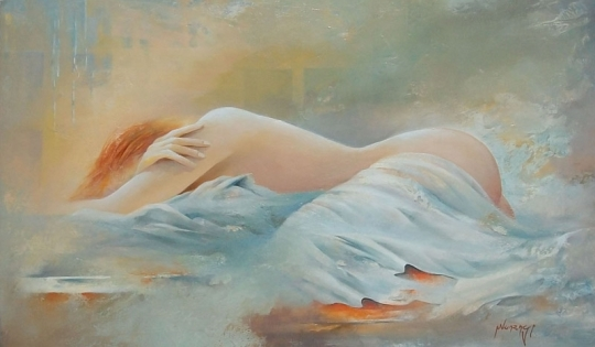 Jean Pierre Monange 1946 French painter - Le sommeil