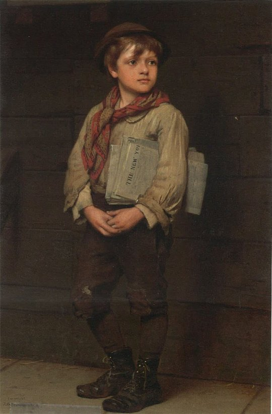 John George Brown - News Boy