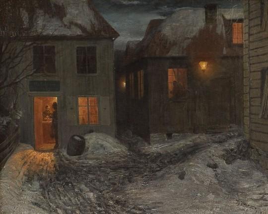 paintings_houses_town_theodor_kittelsen