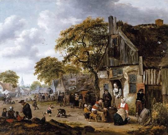 Rombouts,_Salomon_-_A_Village_Street_Scene