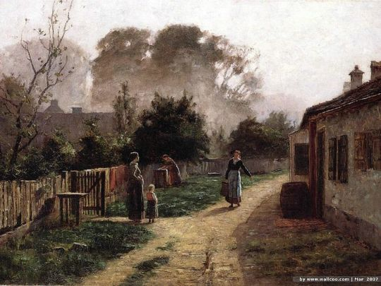 Steele_Theodore_Clement_Village_Scene