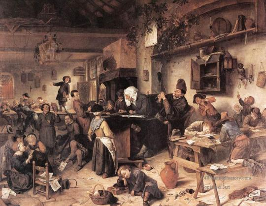 The-Village-School-Dutch-genre-painter-Jan-Steen