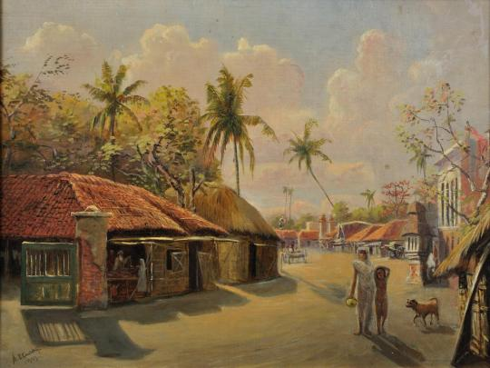 Village_scene,_Jagannath,_India