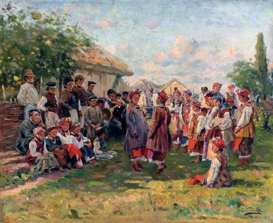 Vladimir Makovsky - Festival in a Ukrainian Village