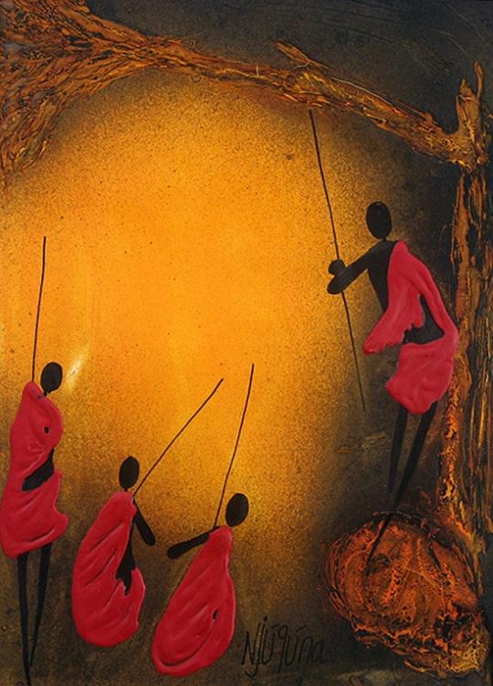 African-art-paintings-by-Bernard-Ndichu-Njuguna2