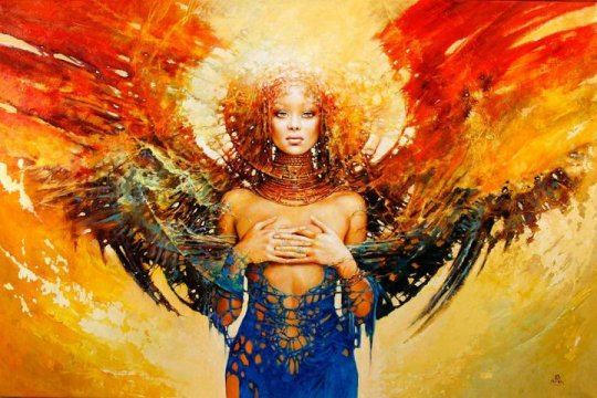 african-woman-painting-portrait-fantasy-color-shape-pattern-decorative-art-female-beautiful-wings