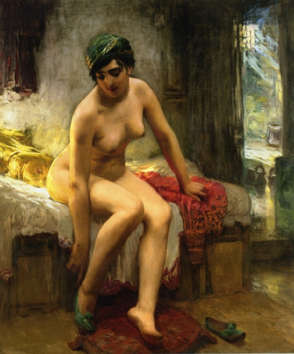 After-the-Bath-XX-Frederick-Arthur-Bridgeman-xx-Private-collection