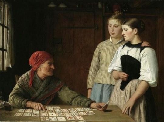 albert-anker-1880 - fortune teller