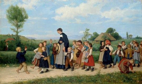 Albert-Anker-Der-Schulspaziergang-1872