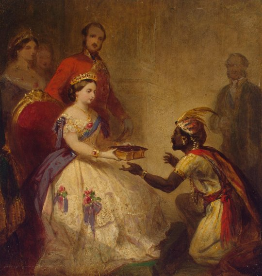 Barker_Thomas_Jones-ZZZ-Queen_Victoria_Giving_the_Bible_to_an_African_Chief_(cartoon)