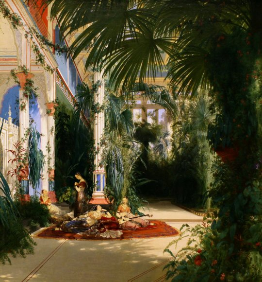 Carl Blechen 'The Interior of the Palm house on the Plaueninsel near Potsdam'