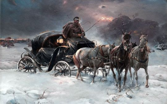 Carriage-Winter-Painting