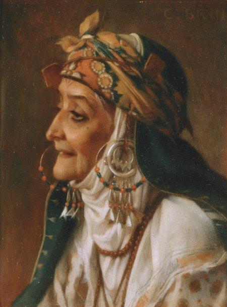 Charles Le Brun - Portrait d'une Femme Kabyle