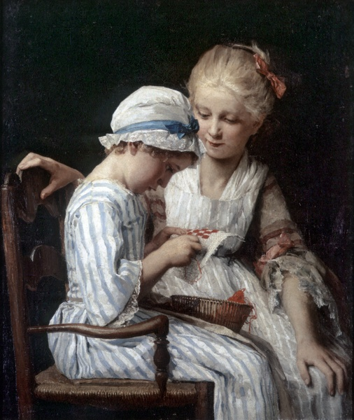 Die Stickerinnen, by Albert Anker