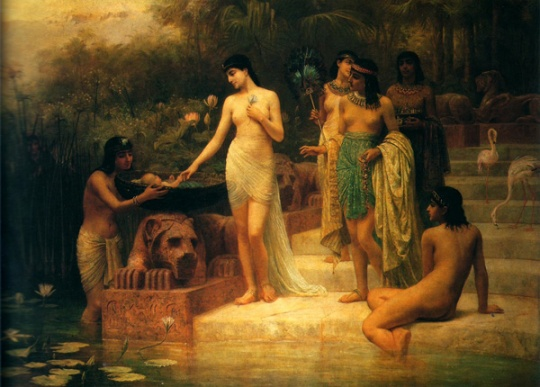 Edwin Longsden Long - Finding Moses