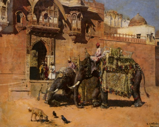 Edwing Lord Weeks - Elephants at the Palace of Jodhpore