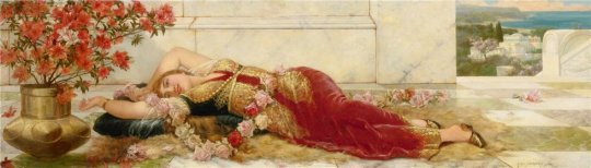 Emile Eisman-Semenowsky(1857–1911) - A languid Harem Beauty