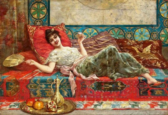 Emile Eisman-Semenowsky(1857–1911) - Refresments in the Harem