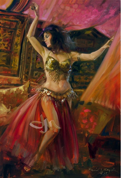 exotic-impressionist-painting-belly-dancer