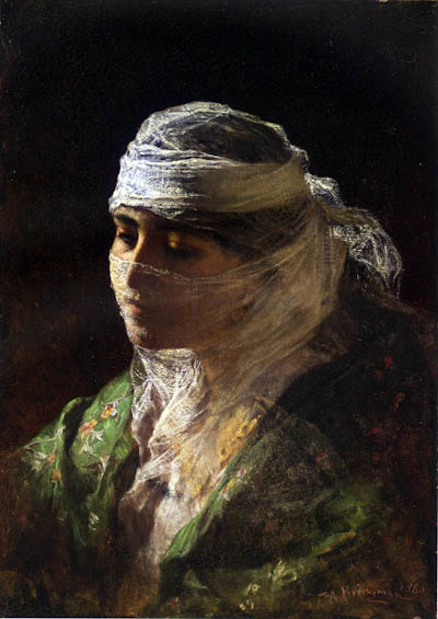 Frederick Arthur Bridgman - A Veiled Beauty of Constantinople