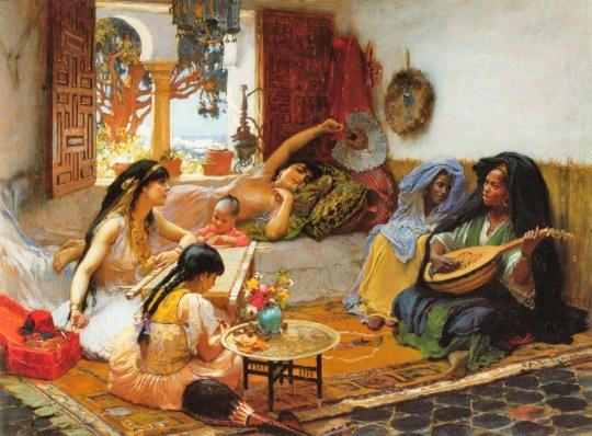 Frederick Arthur Bridgman (American artist, 1847-1928)  Afternoon, Algeria