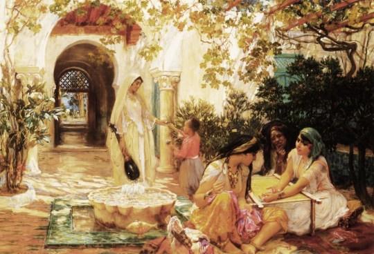 Frederick Arthur Bridgman (American artist, 1847-1928)  Courtyard, El Biar