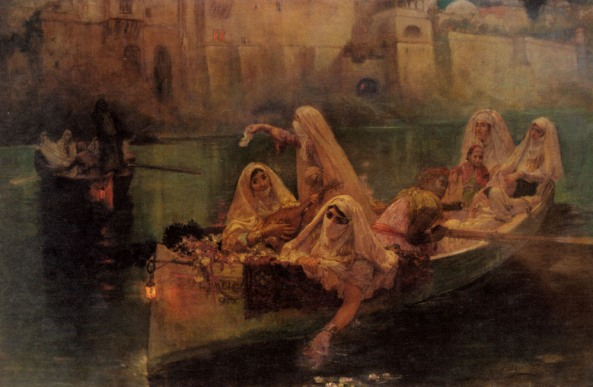 frederick-arthur-bridgman-american-painter-1847-1928-the-harem-boat