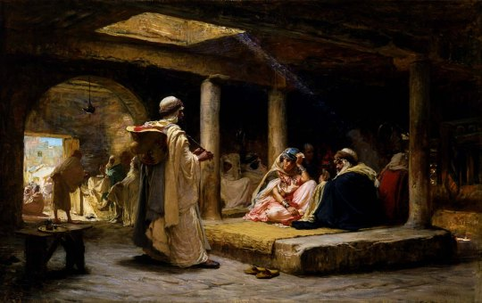 Frederick-Arthur-Bridgman-Cafe-at-Biskra-Algeria