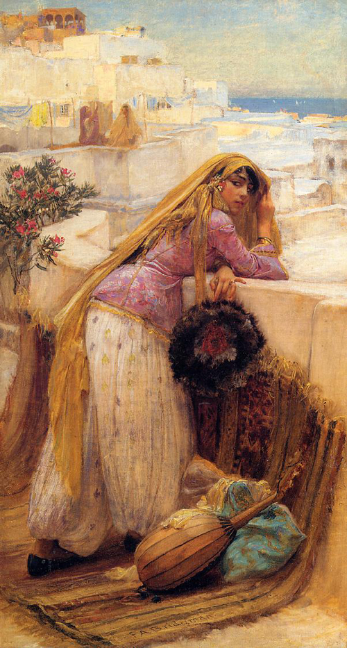 Frederick-Arthur-Bridgman-On-the-Terrace