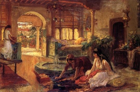 Frederick-Arthur-Bridgman-Orientalist-Interior