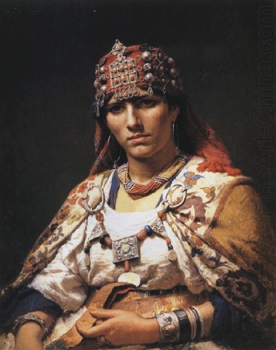 Frederick Arthur Bridgman-Portret of a Kabylie Woman - Algeria