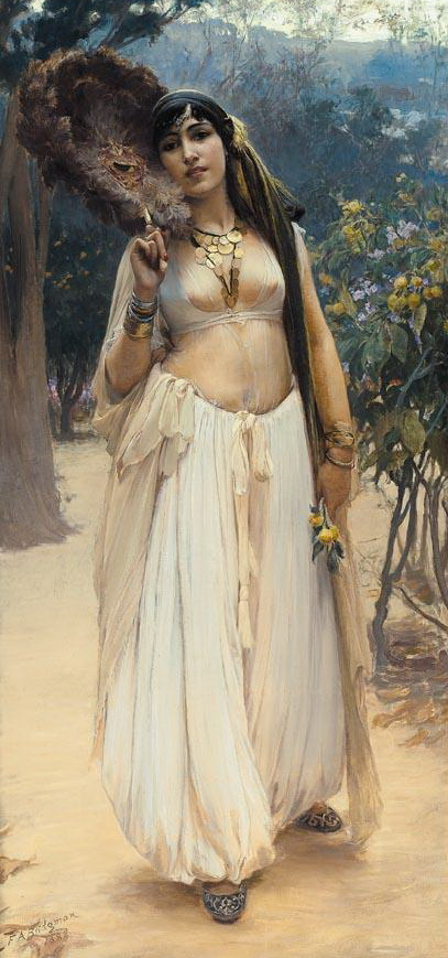 Frederick Arthur Bridgman - Summer Evening - Oriental painting