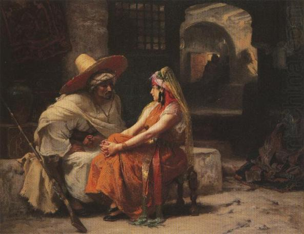 Frederick Arthur Bridgman-The Rendez vous