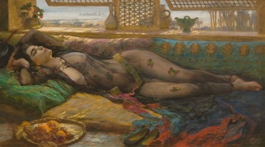 Frederick-Arthur-Bridgman_Reclining_beauty