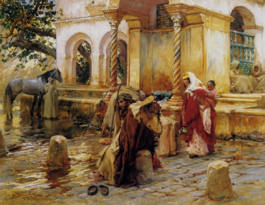 Frederick_Arthur_Bridgman_Fountain_of_Birkadem_Algiers_1896_Oil_on_Canvas-large