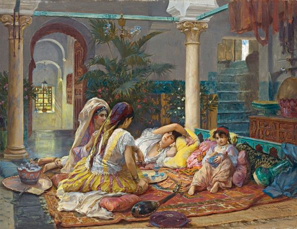 Frederick_Arthur_Bridgman_In_the_Harem