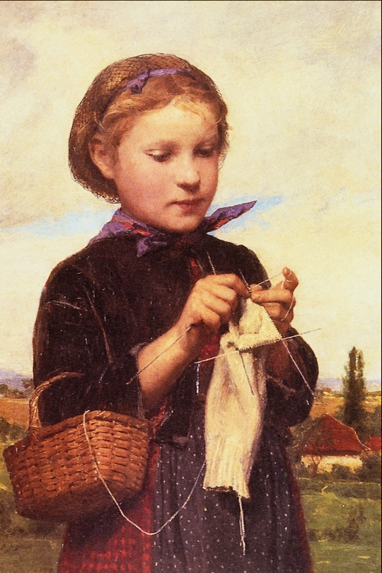 Girl_Knitting_-_Albert_Anker