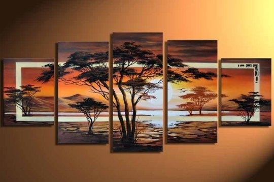 hand-painted-Grassland-font-b-African-b-font-sunrise-High-Q-Home-Decoration-font-b-Modern